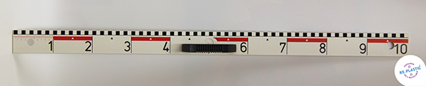 Ravnalo za školsku ploču PVC 100cm s decimetarskom podjelom s magnetom