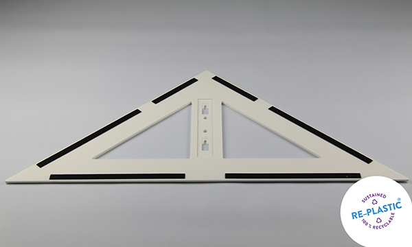 Trokut za školsku ploču 45° PVC 60cm magnetni