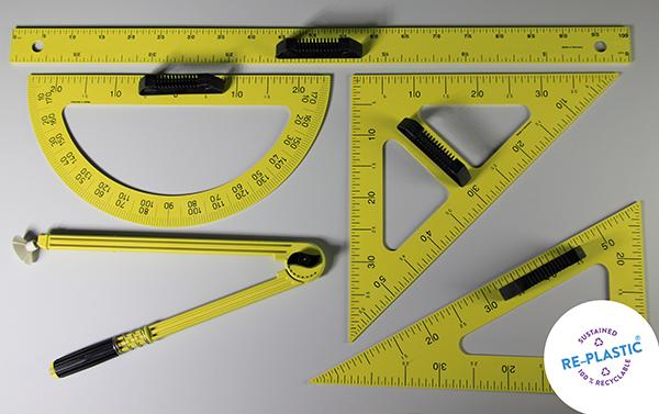 Geometrijski pribor za školsku ploču PVC