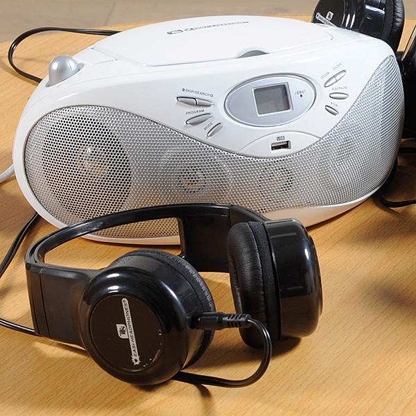 EL00432 Easi-Listener - CD player sa 6 Easi-Headphones slušalicama