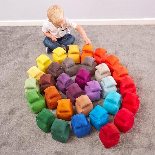 EY11082 Mekani jastučići raznih tonova - boja crvena