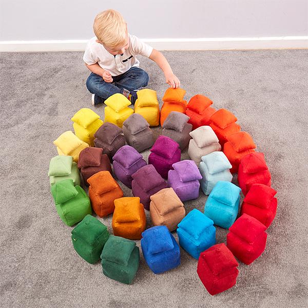EY11084 Mekani jastučići raznih tonova - boja žuta