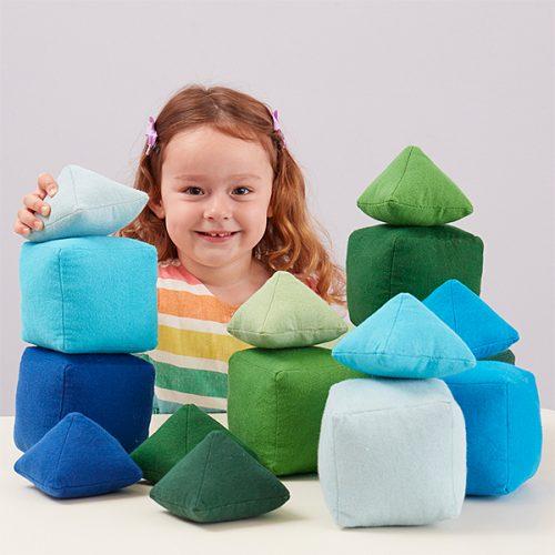 EY11085 Mekani jastučići raznih tonova - boja zelena