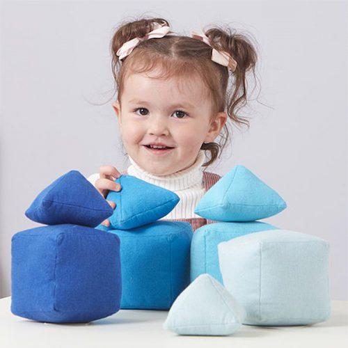 EY11086 Mekani jastučići raznih tonova - boja plava