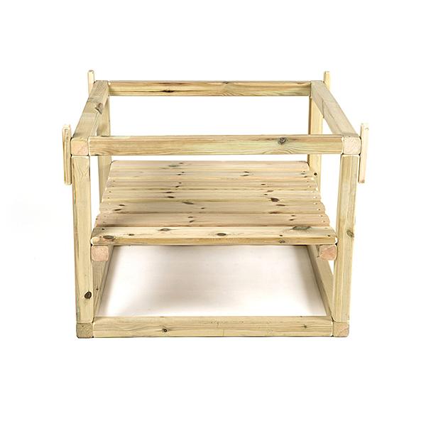 FU10025 Drveno podnožje za plastični stol s viskim rubovima