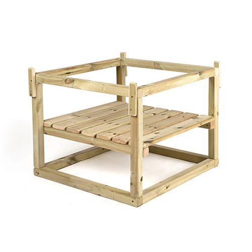 FU10025_1 Drveno podnožje za plastični stol s viskim rubovima