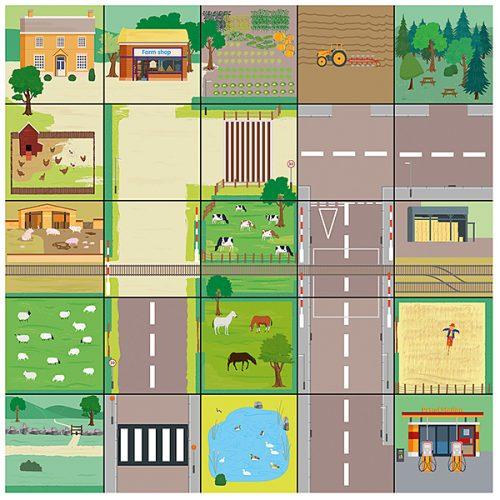 IT10144 Bee Bot svijet - Prostirka selo