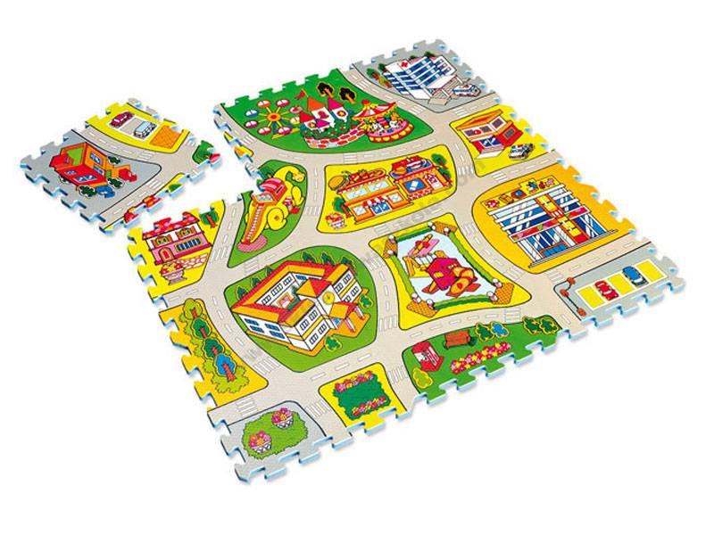 MW0011 Pjenasta prostirka puzzle blokova ulice