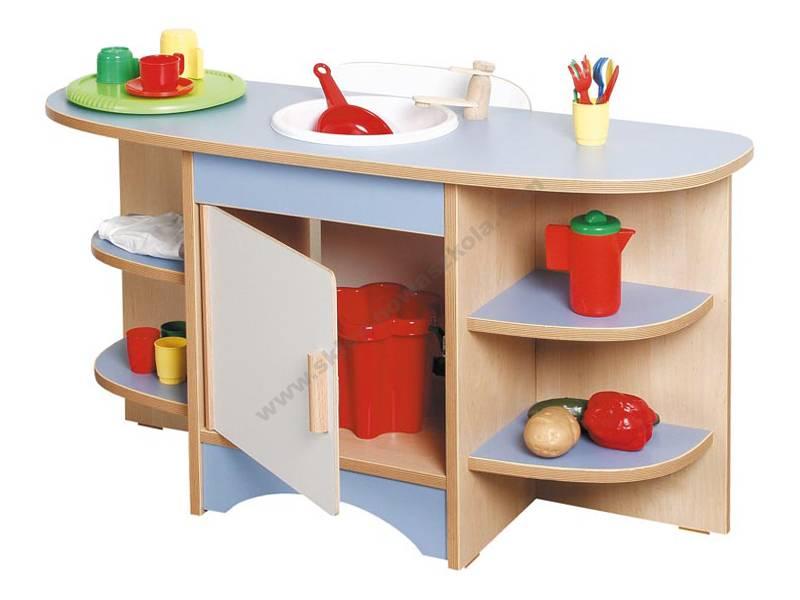 NS0287 Plava jedinica kuhinjskog umivaonika za djecu