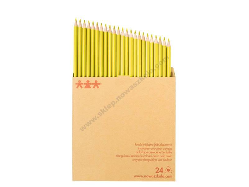 NS1092 Komplet drvenih bojica jedne boje - Žuta