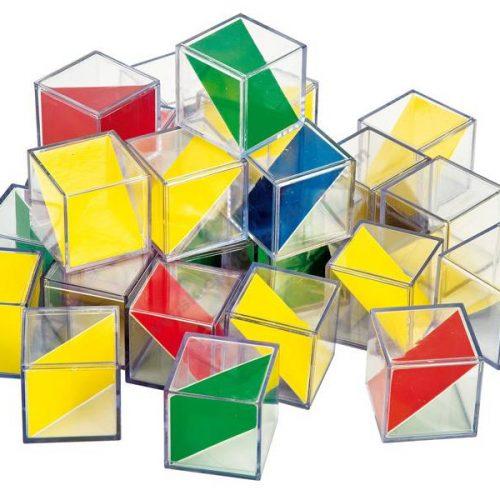 NS4063 Komplet prozirnih kocaka s plohama u boji