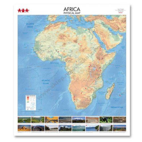 NS8331 Fizička karta kontinenta Afrike