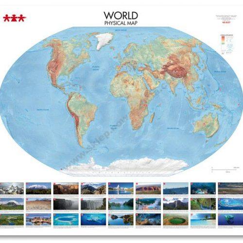 NS8337 Fizička karta svijeta
