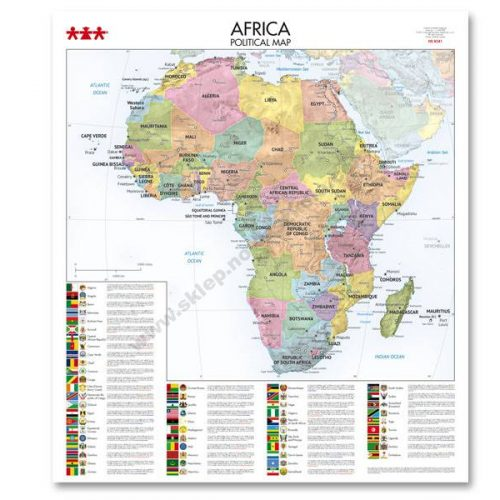 NS8341 Karta političkog uređenja kontinenta Afrike