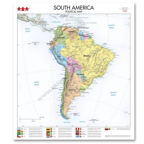 NS8342 Karta političkog uređenja kontinenta Južne Amerike
