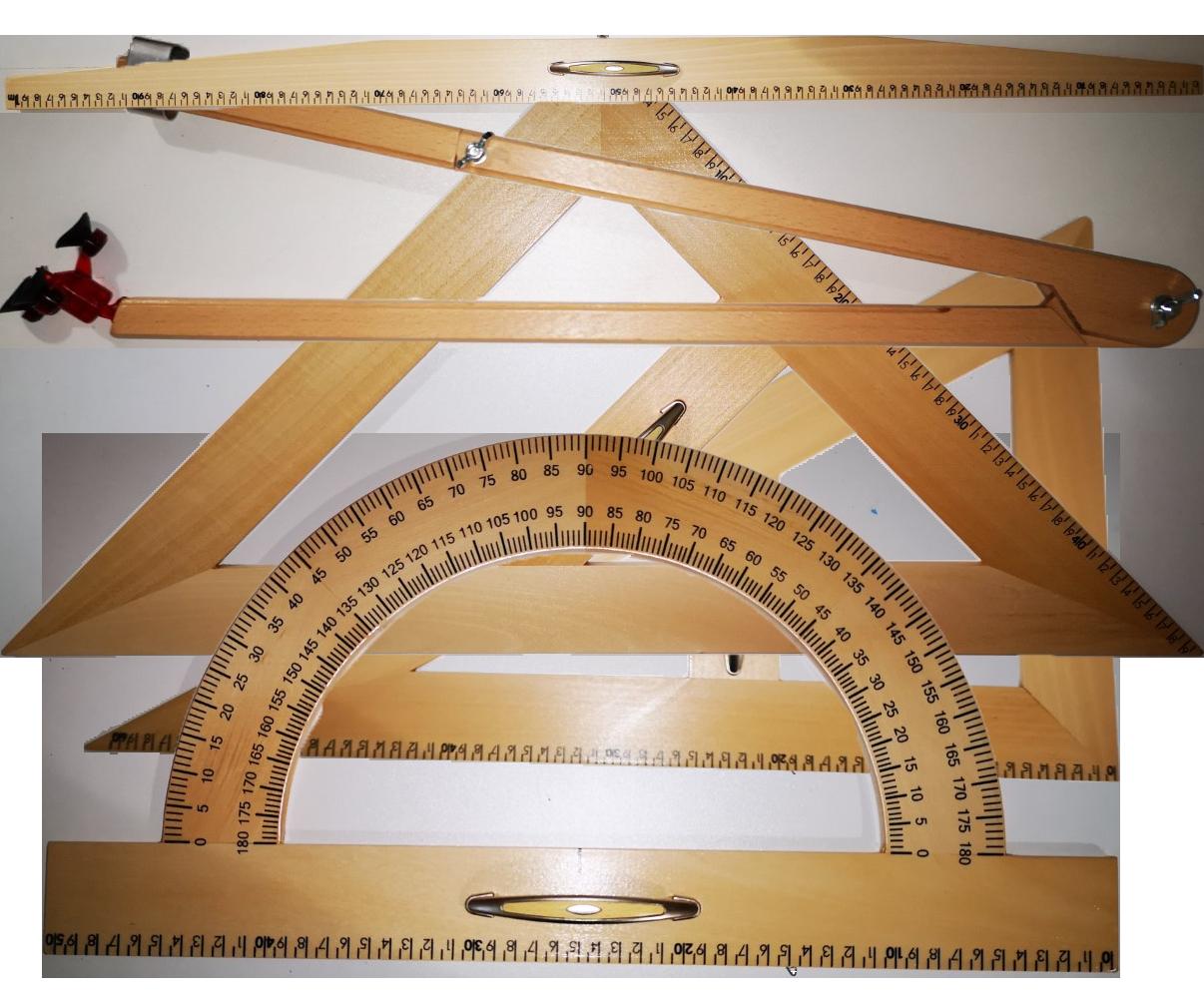 Drveni geometrijski probor za školsku ploču