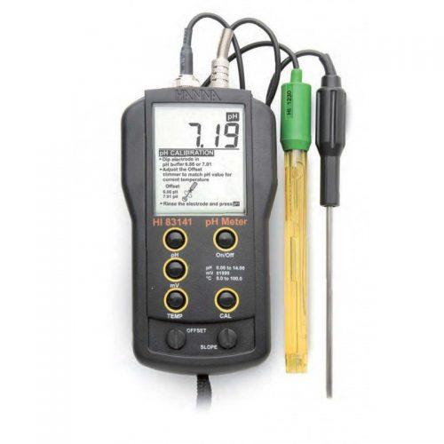 PH-4 Prijenosni pH mjerač s elektrodom i temperaturnom sondom